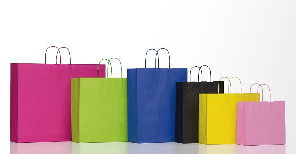 sacchetti di carta personalizzati linea spring