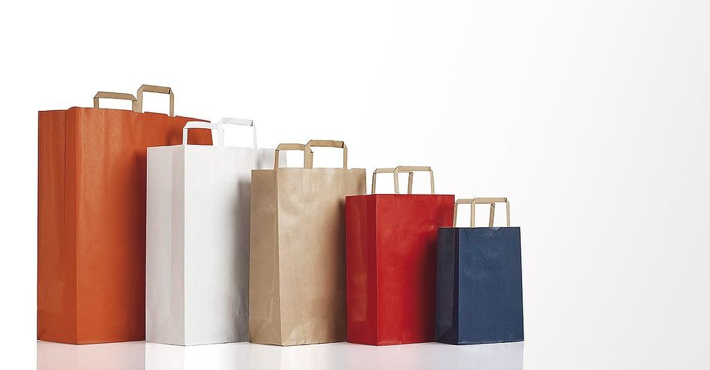 sacchetti automatici manico a piattina 90 gr personalizzati