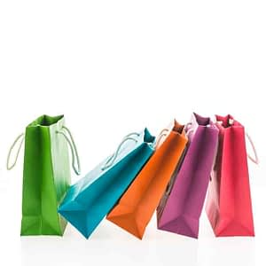 shopper in carta colorate