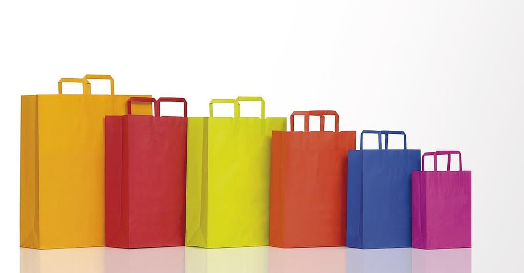 sacchetti di carta automatici linea happy manico a piattina