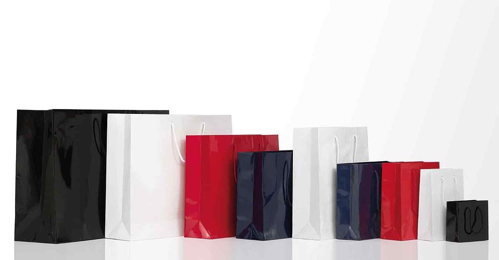 shopper carta lusso plastificate lucide